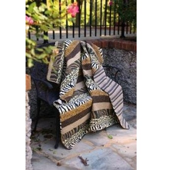 Zebra and Leopard Animal Print Quilt